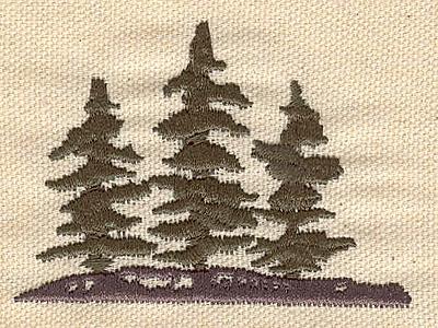 Embroidery Design: Evergreens H 2.73w X 2.03h