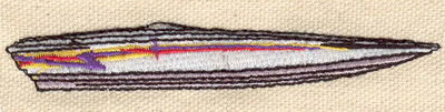 Embroidery Design: Speed boat 3.74w X 0.60h