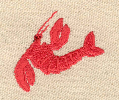 Embroidery Design: Lobster H 1.85w X 1.62h