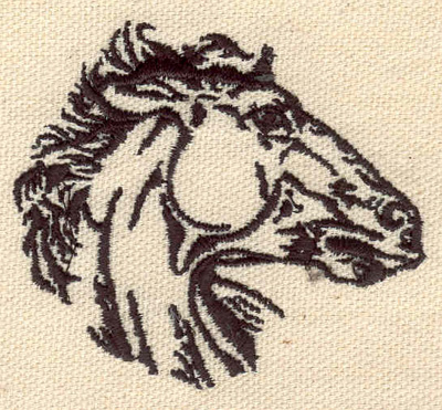 Embroidery Design: Horse head small 2.55w X 2.27h
