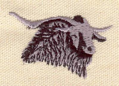 "Embroidery Design: Ram head C   1.26""h x 1.93""w"