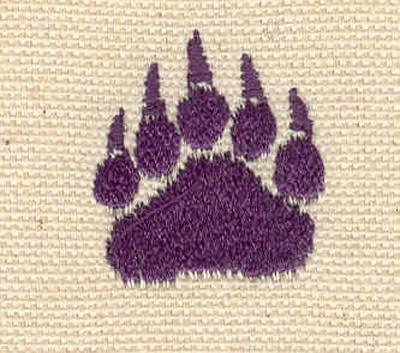 Embroidery Design: Paw C 0.94w X 1.08h
