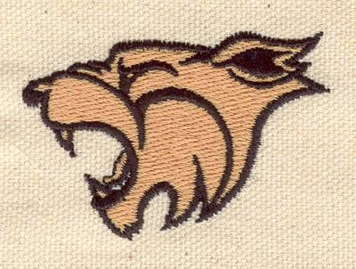 Embroidery Design: Cougar head 2.20w X 1.49h