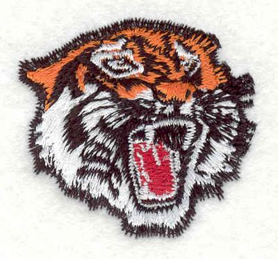 "Embroidery Design: Tiger head G 1.77""w X 1.73""h"