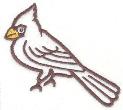 "Embroidery Design: Cardinal 53.20"" x 3.50"""