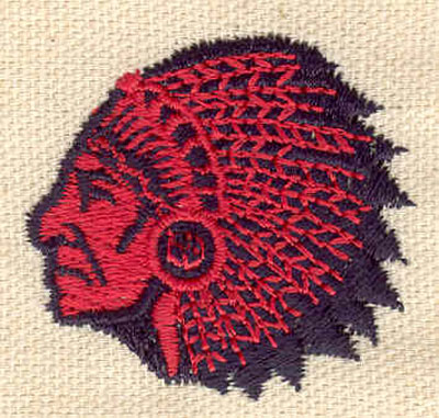 Embroidery Design: Indian Chief A 1.60w X 1.50h