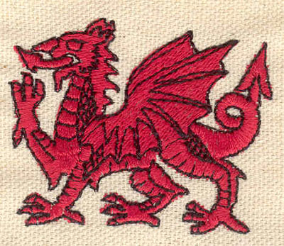 Embroidery Design: Dragon 2.17w X 1.75h