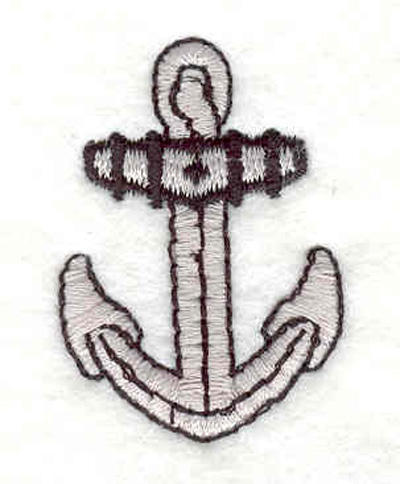 "Embroidery Design: Anchor C 1.07""w X 1.54""h"