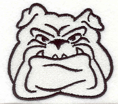 "Embroidery Design: Bulldog N2.79"" x 3.01"""