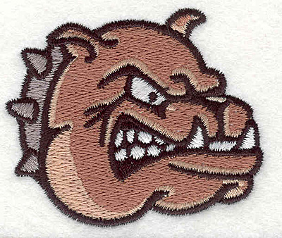"Embroidery Design: Bulldog O2.36"" x 2.79"""