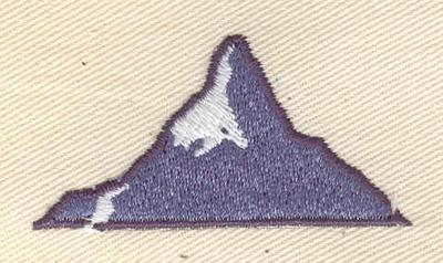 Embroidery Design: Mountain 2.05w X 1.06h