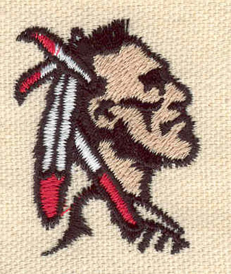 Embroidery Design: Indian head C 1.31w X 1.70h