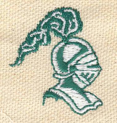 Embroidery Design: Knight head 1.19w X 1.36h