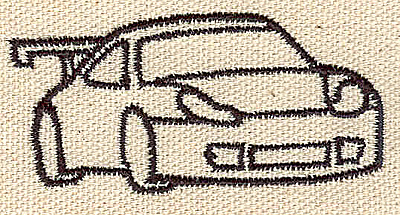 Embroidery Design: Car with spoiler 4.09w X 2.31h