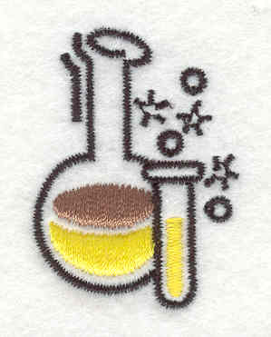 Embroidery Design: Test Tube 1.57w X 1.13h