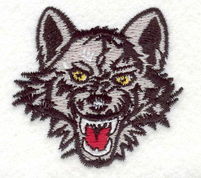 "Embroidery Design: Wolf head G 2.20""w X 2.08""h"