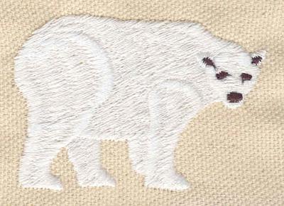 Embroidery Design: Polar bear 2.28w X 1.55h
