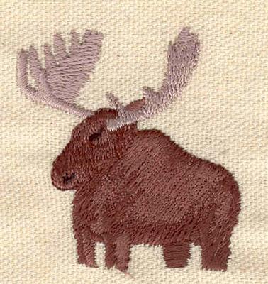 Embroidery Design: Moose 1.81w X 1.94h