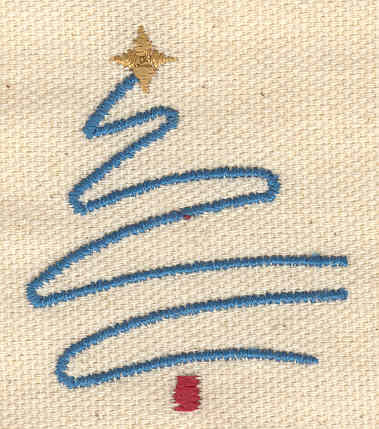Embroidery Design: Stylized Christmas tree 1.60w X 1.90h