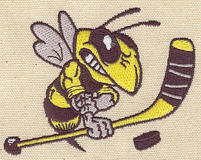 Embroidery Design: Hockey hornet 3.80w X 3.14h
