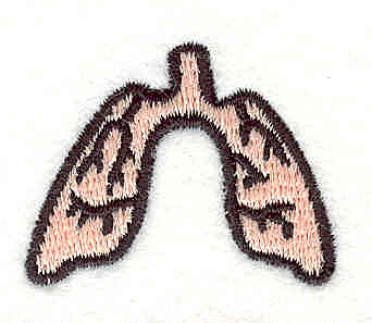 Embroidery Design: Lungs 3 1.14w X 1.42h