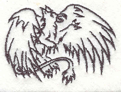 "Embroidery Design: Griffin F2.07""Hx2.82""W"