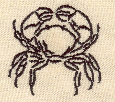 Embroidery Design: Crab D 2.23w X 2.18h