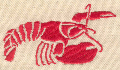 Embroidery Design: Lobster I 3.48w X 2.02h