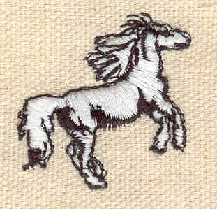 Embroidery Design: Horse D 1.19w X 1.27h