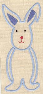 Embroidery Design: Rabbit 2.76w X 6.79h