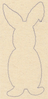 Embroidery Design: Rabbit outline 2.76w X 6.79h