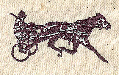 Embroidery Design: Pacer or trotter racing1.44in. H x 2.65in. W