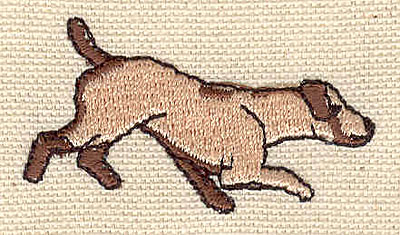 Embroidery Design: Dog C1.94w X 1.05h