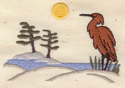 Embroidery Design: Cottage scene2.97w X 2.04h
