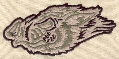 Embroidery Design: Hog head 4.47w X 2.09h