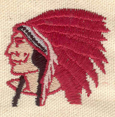 Embroidery Design: Indian chief B 1.79w X 1.63h