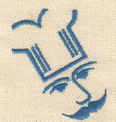 Embroidery Design: Chef's head 1.72w X 2.03h