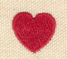 Embroidery Design: Mini heart 0.71w X 0.69h
