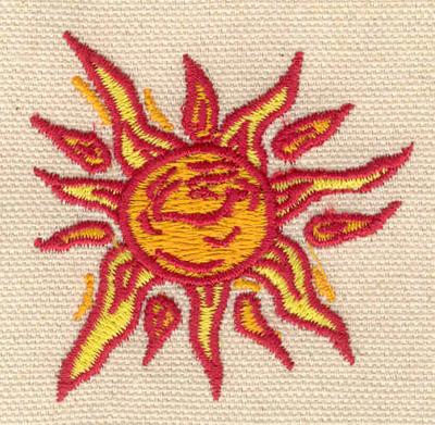 Embroidery Design: Sun 2.22w X 2.17h