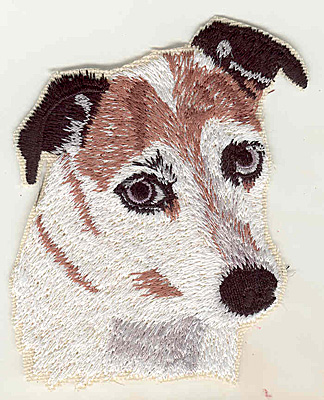 Embroidery Design: Terrier B 3.47w X 4.03h