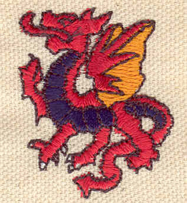 Embroidery Design: Dragon 1.33w X 1.63h