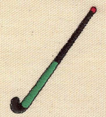 Embroidery Design: Field hockey stick 1.93w X 2.27h