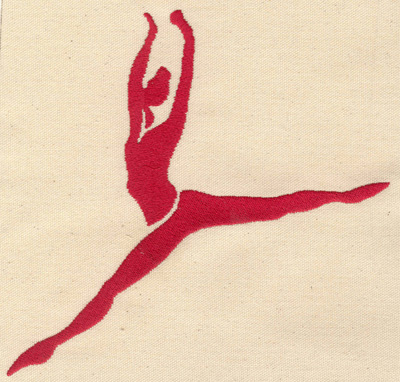 Embroidery Design: Dancer H 7.23w X 7.11h
