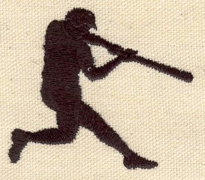 Embroidery Design: Baseball player silouette 2.34w X 2.05h