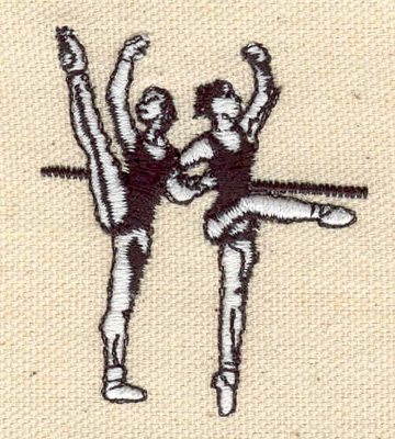 Embroidery Design: Dancers at barre 1.85w X 2.17h