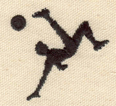 Embroidery Design: Soccer player 1.92w X 1.80h