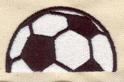 Embroidery Design: Soccer ball b 2.77w X 1.61h