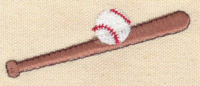 Embroidery Design: Ball and bat 3.07w X 1.21h
