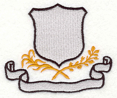 """Embroidery Design: Crest and Banner2.90""""x3.45"""""""