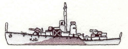 Embroidery Design: Battleship 11.31w X 3.55h